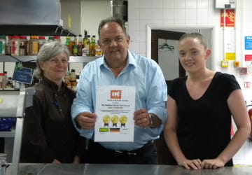 Serving up Redditch's first gold award
