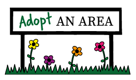 A promotional image for the Adopt an Area campaign