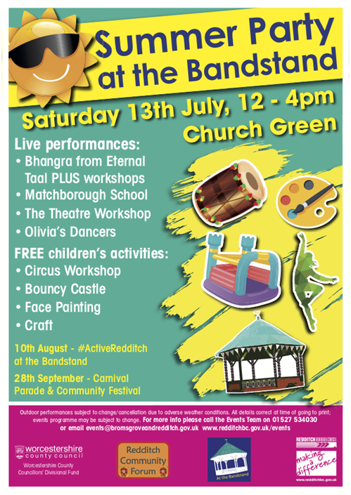 Redditch Bandstand Summer Party July 19