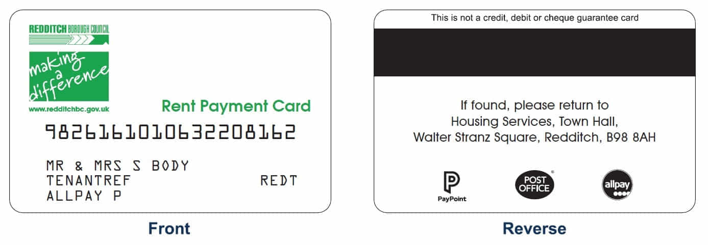 Rent Payment Card Current