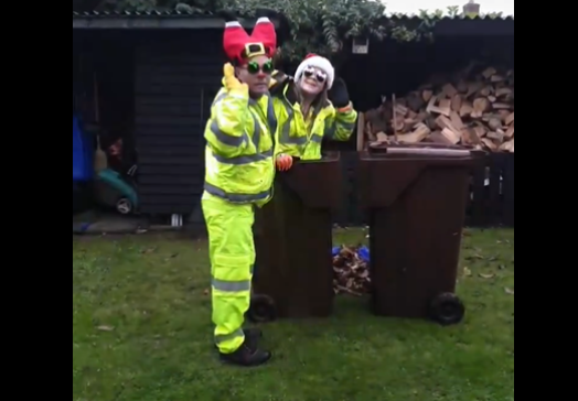Garden Waste crews share festive TikTok gift with customers